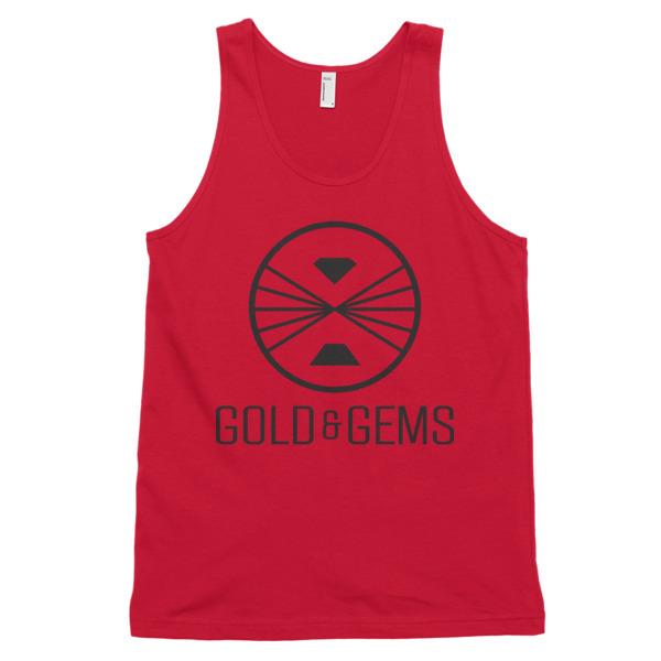 Gold & Gems logo tanktop